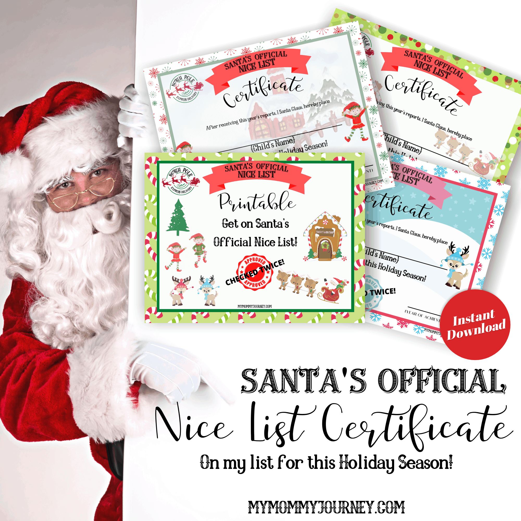 Santa S Official Nice List Certificate My Mommy Journey Shop