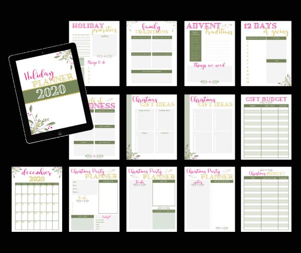 holiday planner printable, Christmas planner