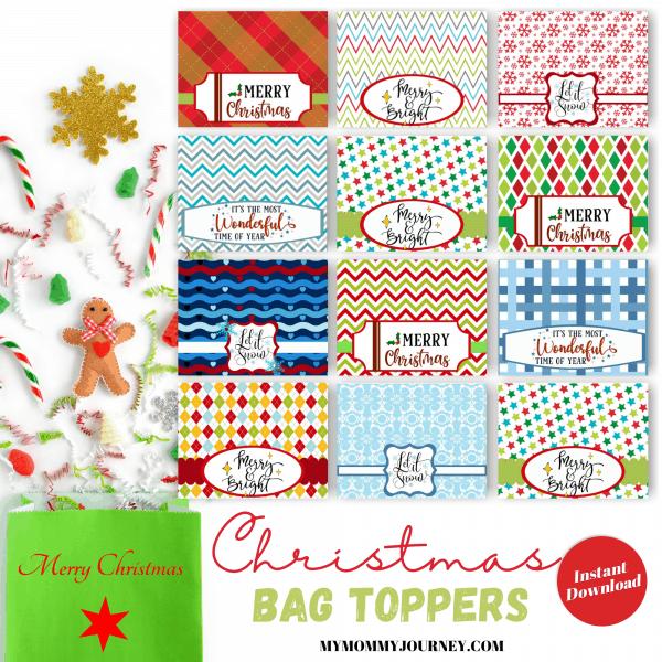 Christmas Bag Toppers printable