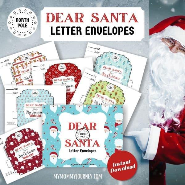Dear Santa Letter Envelopes printable