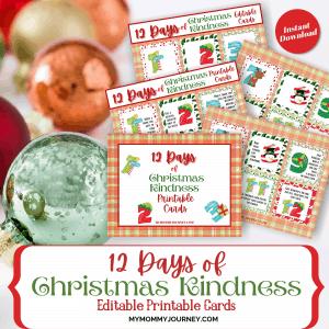 12 Days of Christmas Kindness printable
