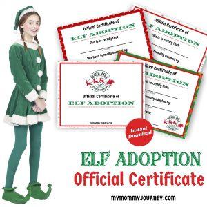 Elf Adoption Official Certificate