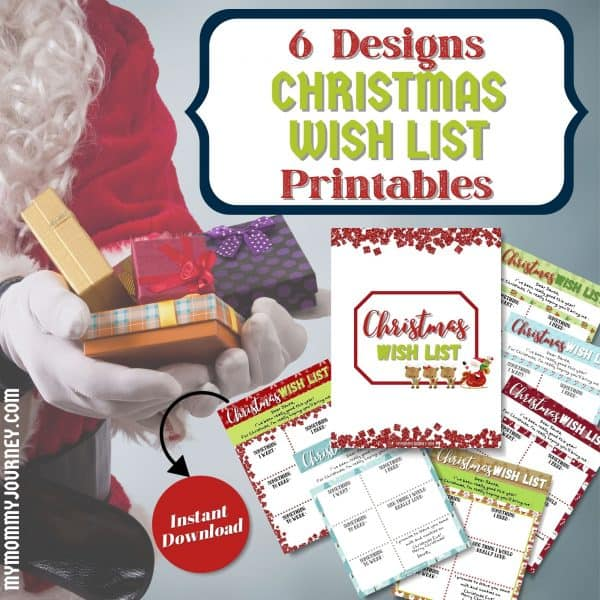 Christmas Wish List Dear Santa Letter Envelope Bundle printable