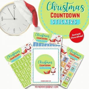 Christmas Countdown Stickers printable