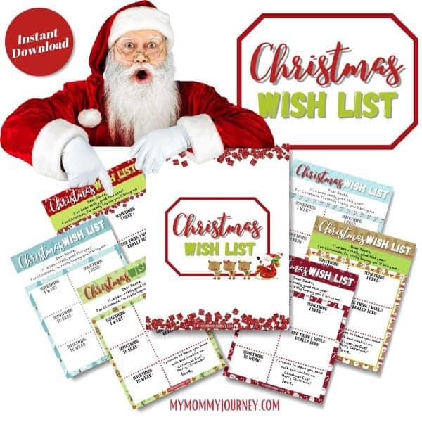 Christmas Wish List printables