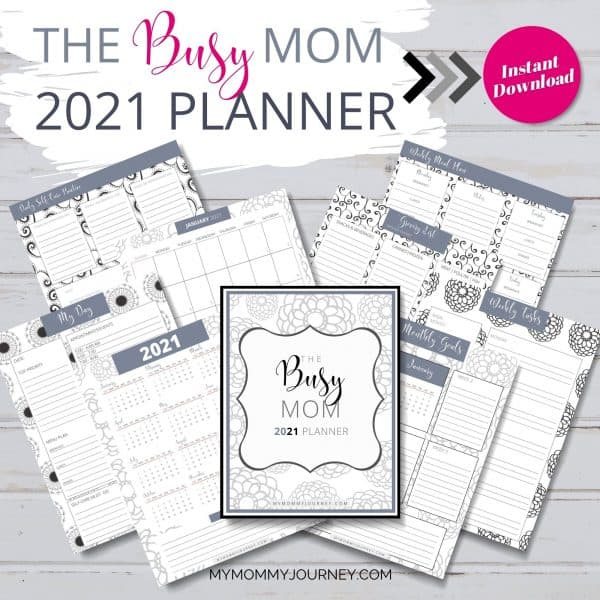 The Busy Mom Planner 2021 gray