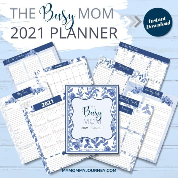 The Busy Mom Planner 2021 blue