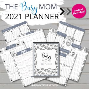 The Busy Mom Planner 2021 black