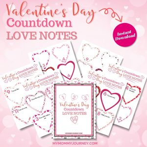 Valentine's Day Countdown Love Notes