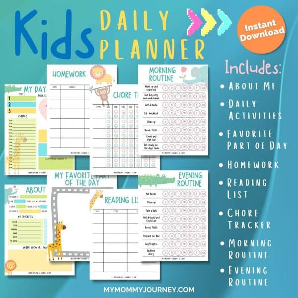 Kids Daily Planner included