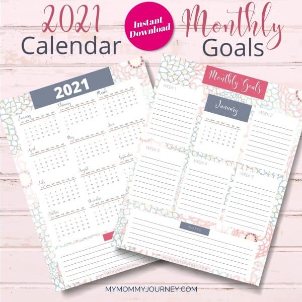 The Busy Mom Planner 2021 pink