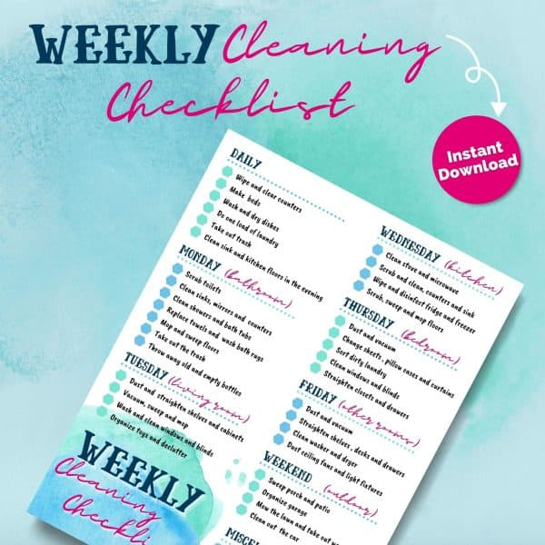 Busy Moms Cleaning Checklist