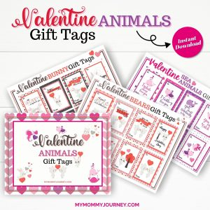 Valentine Gift Tags Printable Animals