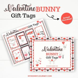 Valentine Gift Tags Printable Bunny