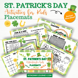St. Patrick's Day Activities for Kids Placemats