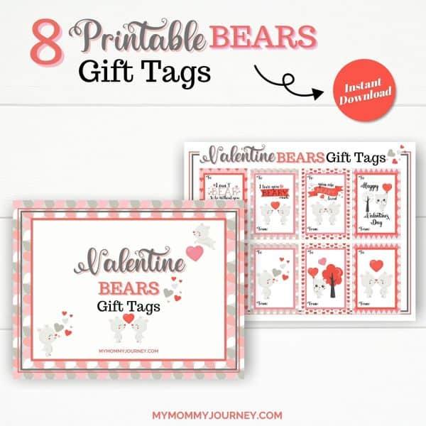 8 Printable Bears Gift Tags