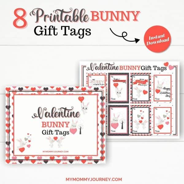 8 Printable Bunny Gift Tags
