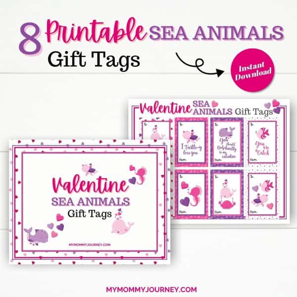 8 Printable Sea Animals Gift Tags