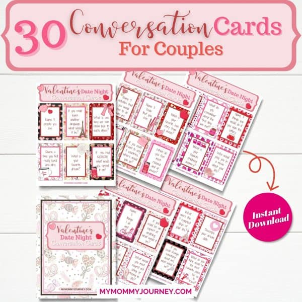 30 conversation cards for couples