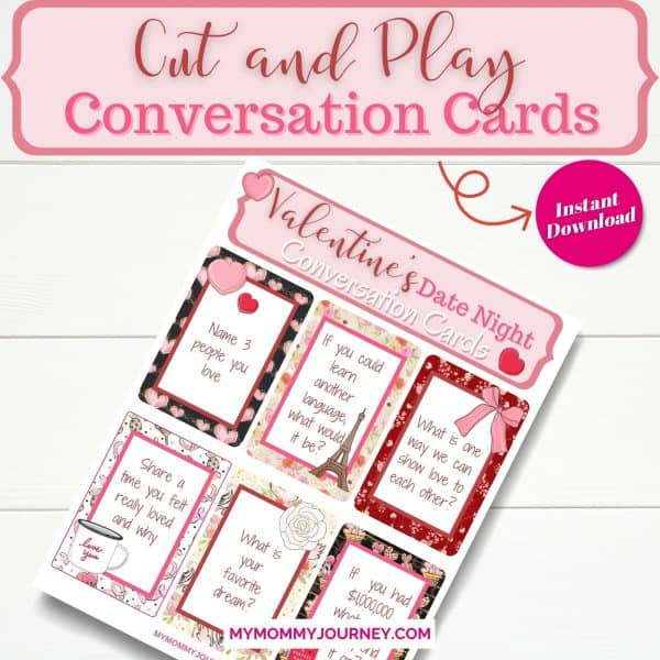 Valentine's Day Conversation Starters cut and play conversation cards