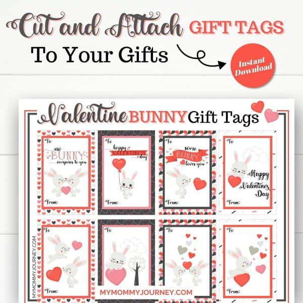 Cut and Attach Gift Tags to your Valentine Gifts