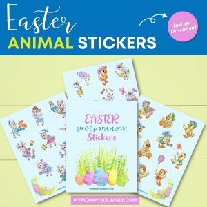 Sheep and Duck Easter Stickers