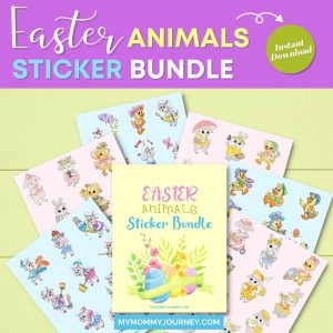 Animals Easter Stickers Bundle