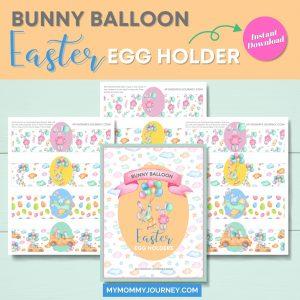 Bunny Balloon Easter Egg Holder