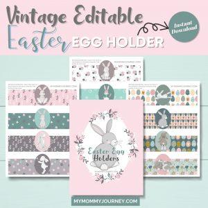 Vintage Editable Easter Egg Holder