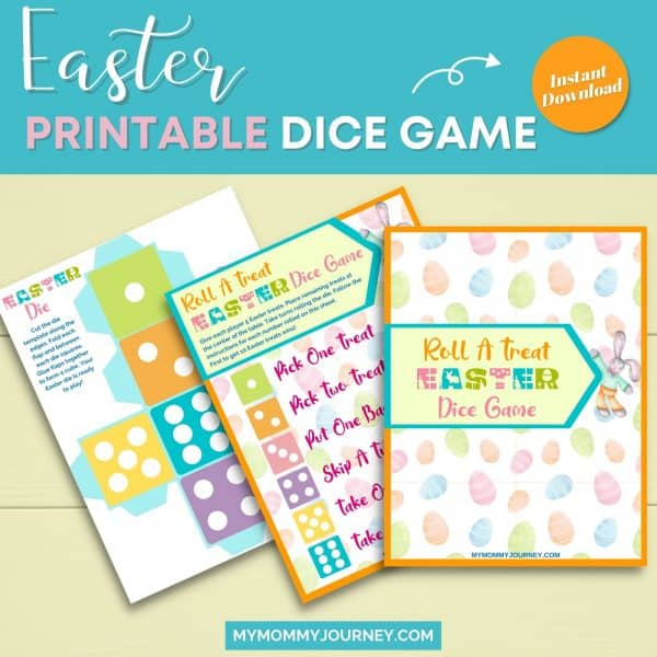 Easter printable dice game