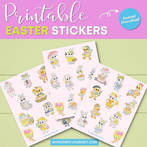 Printable Easter stickers