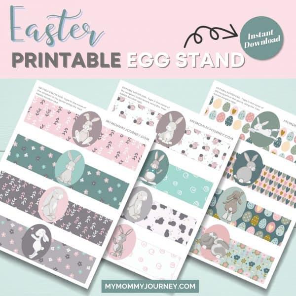 Easter printable egg stand