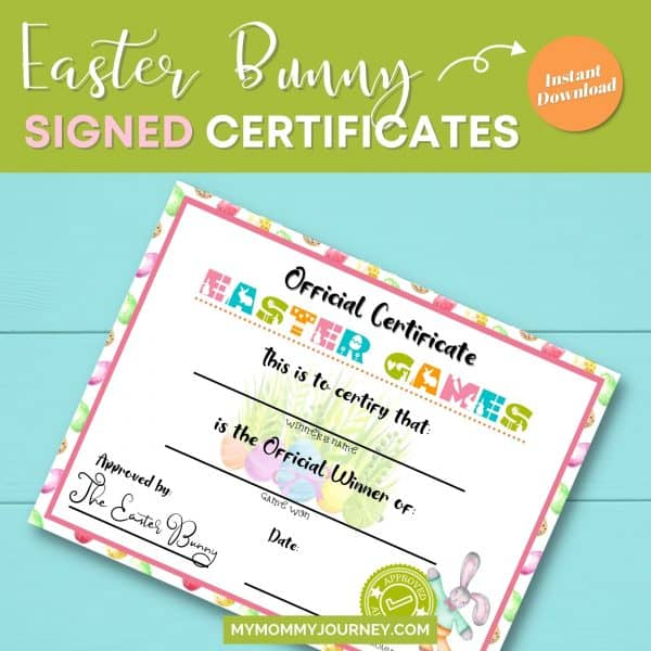 Easter Bunny signed certificates