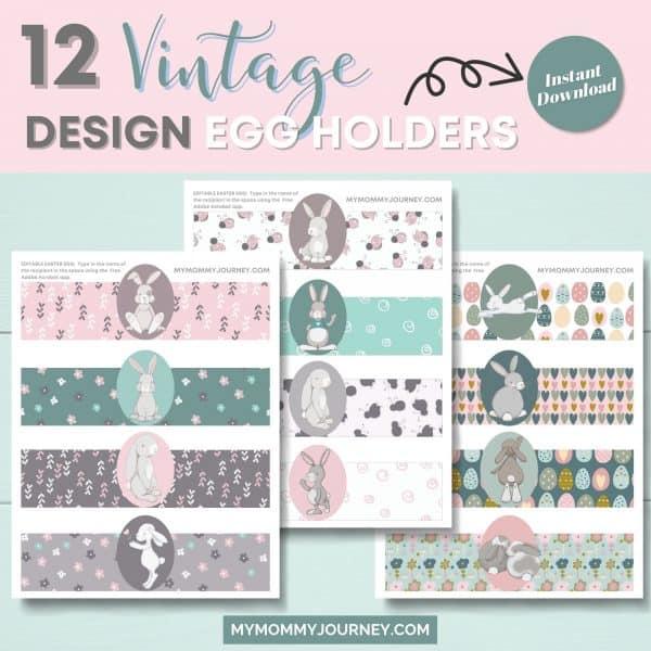 12 Vintage design egg holders