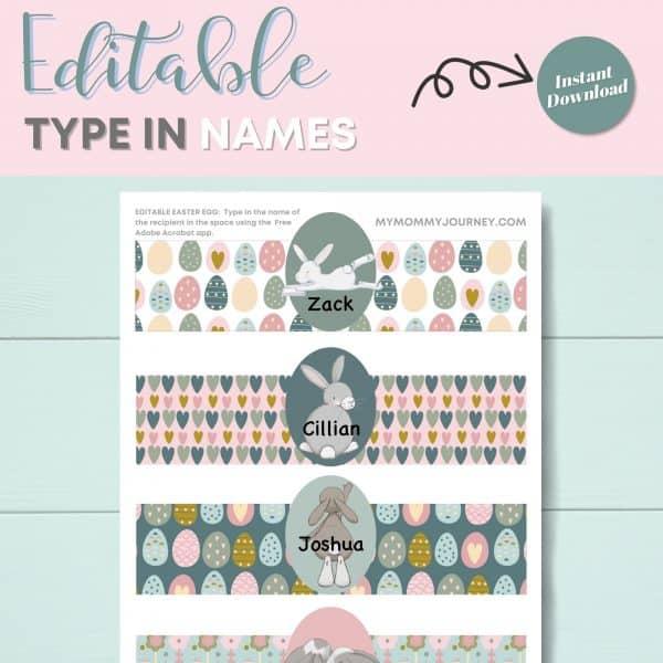 Editable type in names