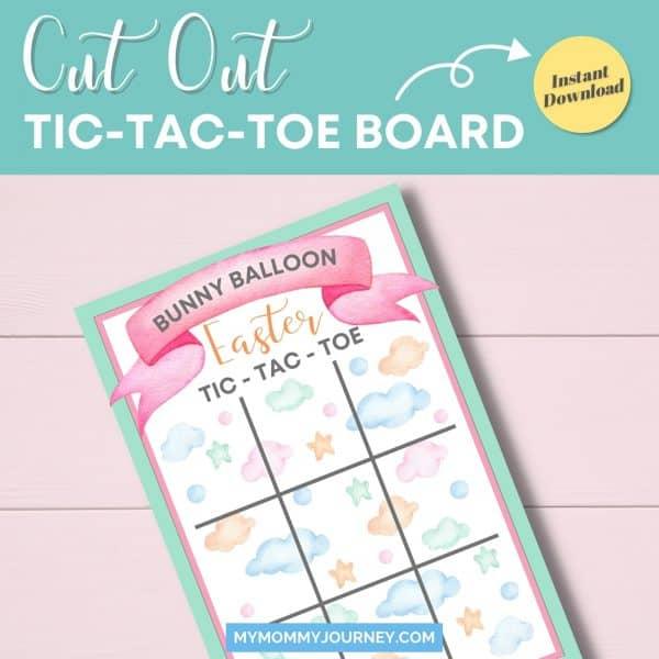 Cut out Tic Tac Toe board