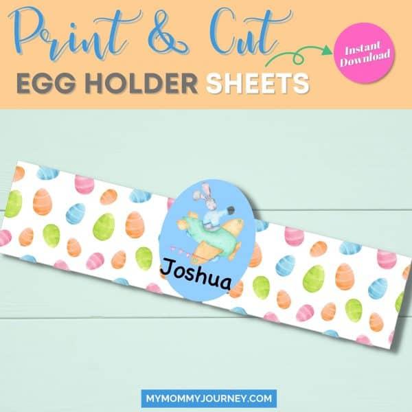 Print and cut egg holder sheets