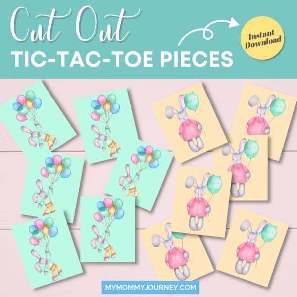 Cut out Tic Tac Toe token pieces