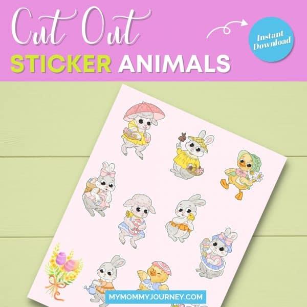 cut out sticker animals