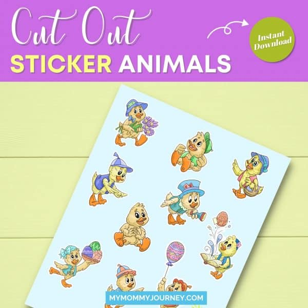 Animals Easter Stickers Bundle cut out sticker animals