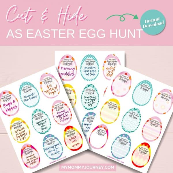 Cut and hide as Easter egg hunt