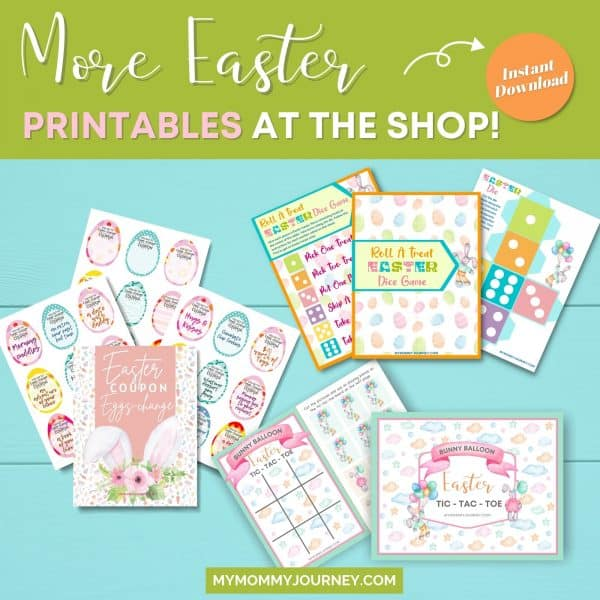 More Easter printables at the shop