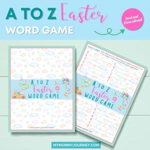 A to Z Easter Word Game printable