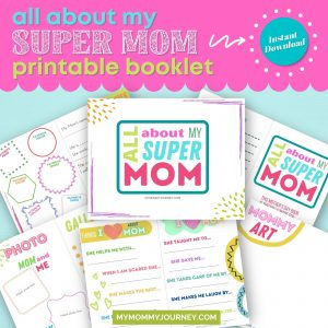 All About My Super Mom Booklet printable