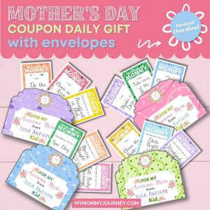 Mother's Day Coupon Daily Gift with Envelopes