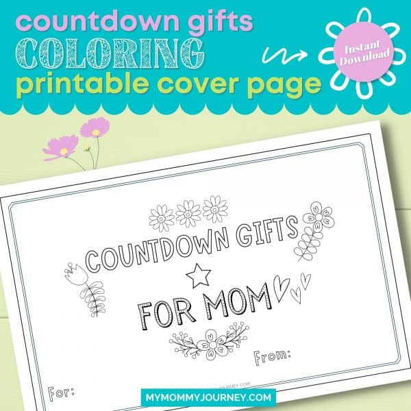 Countdown Gifts Coloring Printable Cover Page