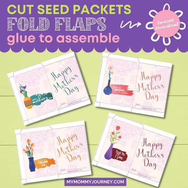 Cut Seed Packets Fold Flaps Glue to Assemble