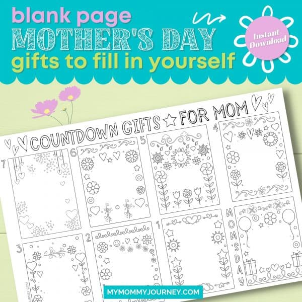 Blank Page Mother's Day Gifts to Fill In Yourself