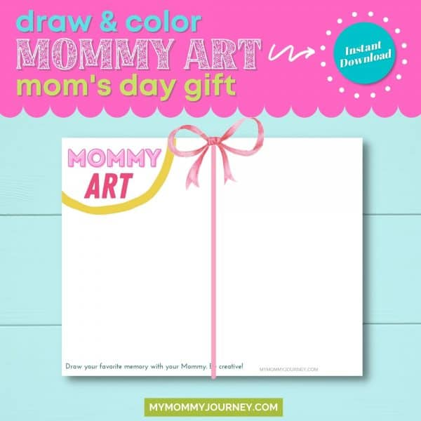 draw and color mommy art as mom's day gift