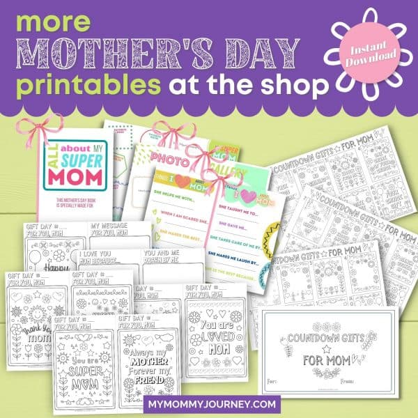 More Mother's Day Printables at the Shop